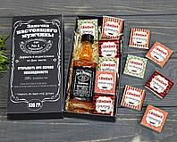Мужской подарочный набор с виски и шоколадом Джек Дениелс Jack Daniels, фото 1