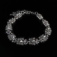 Королевский браслет с камнями, браслет под серебро