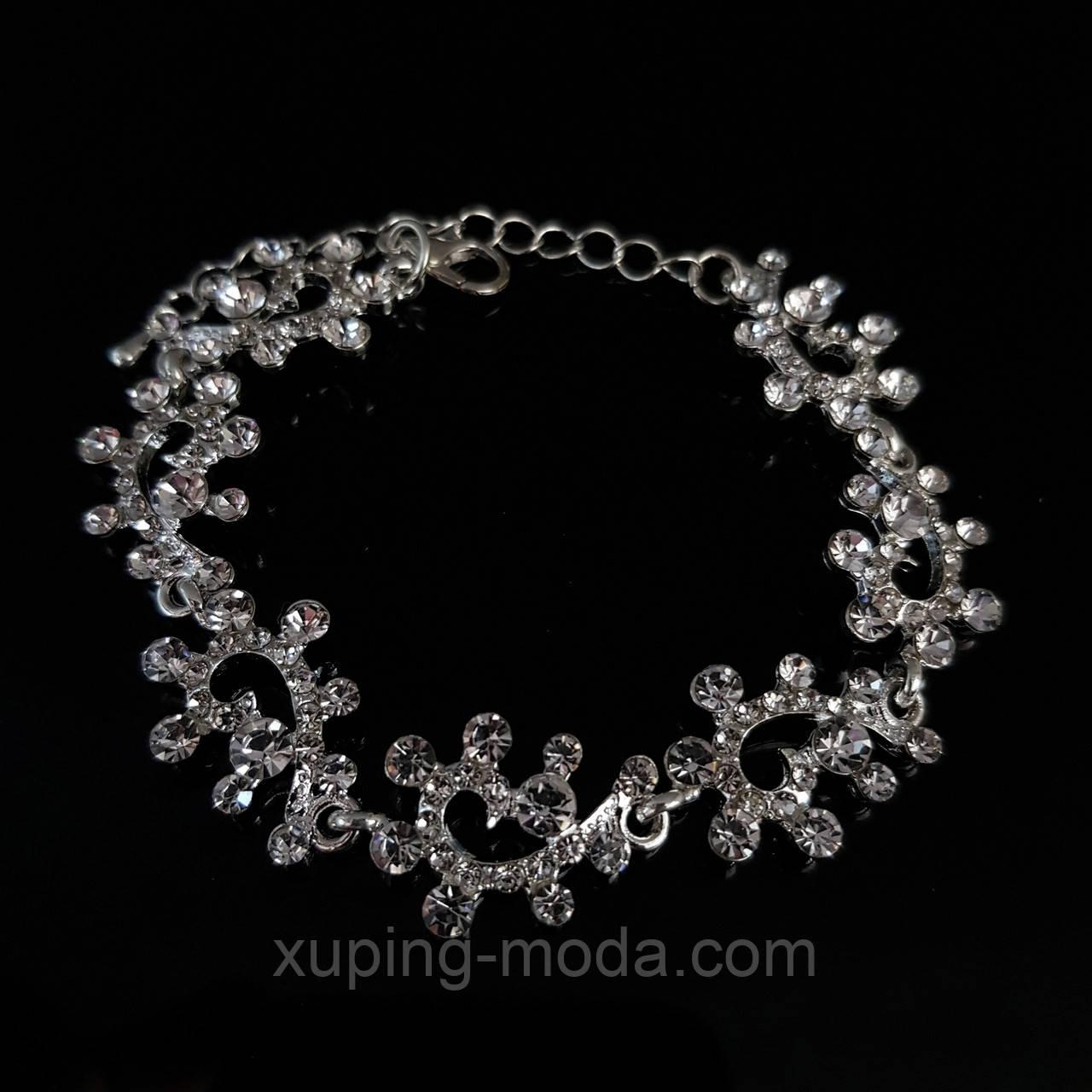 Женский браслет под серебро