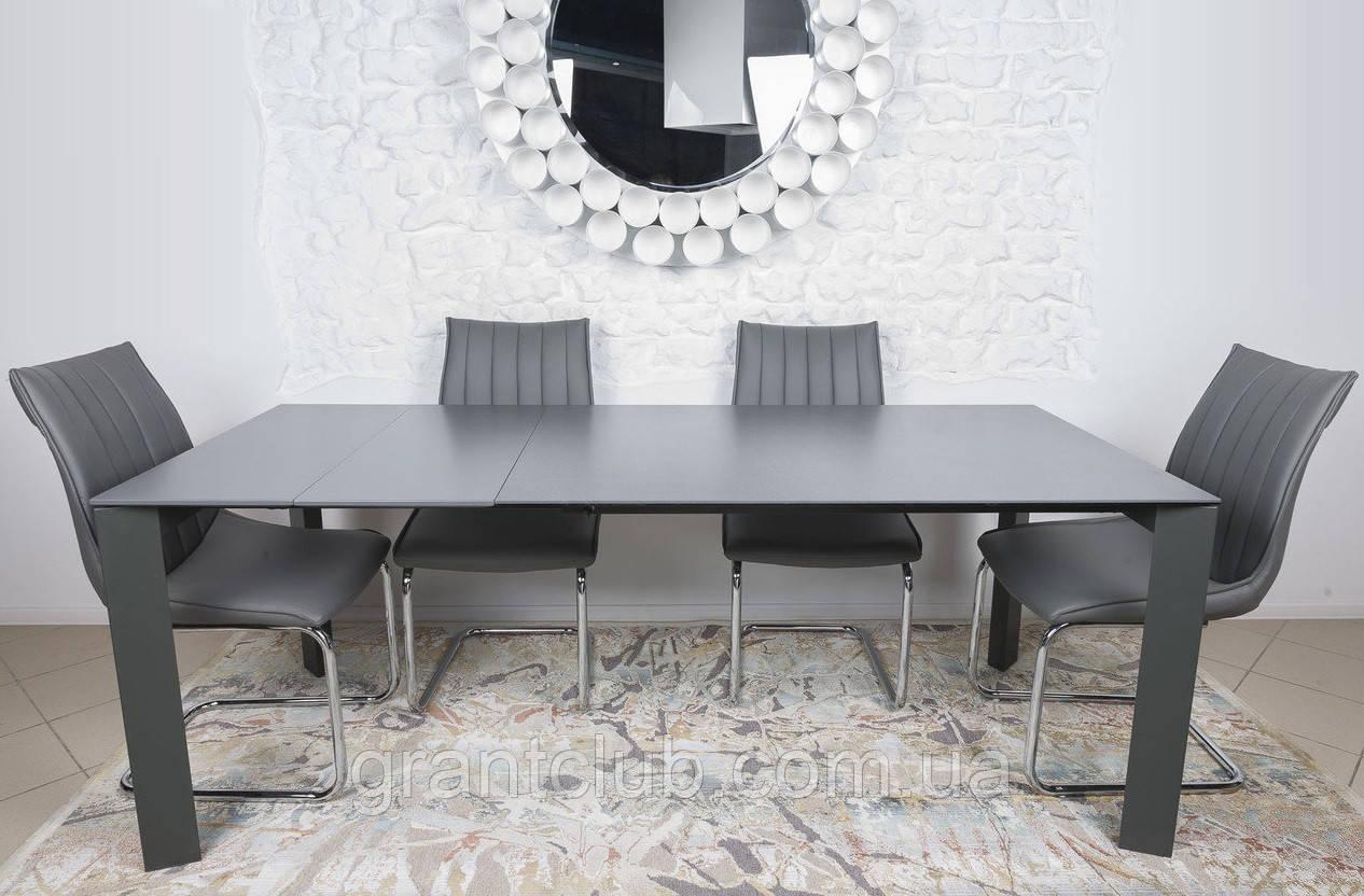 Стол обеденный BRISTOL B 130/200*85 керамика мокрый асфальт Nicolas