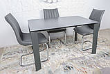 Стол обеденный BRISTOL B 130/200*85 керамика мокрый асфальт Nicolas, фото 7