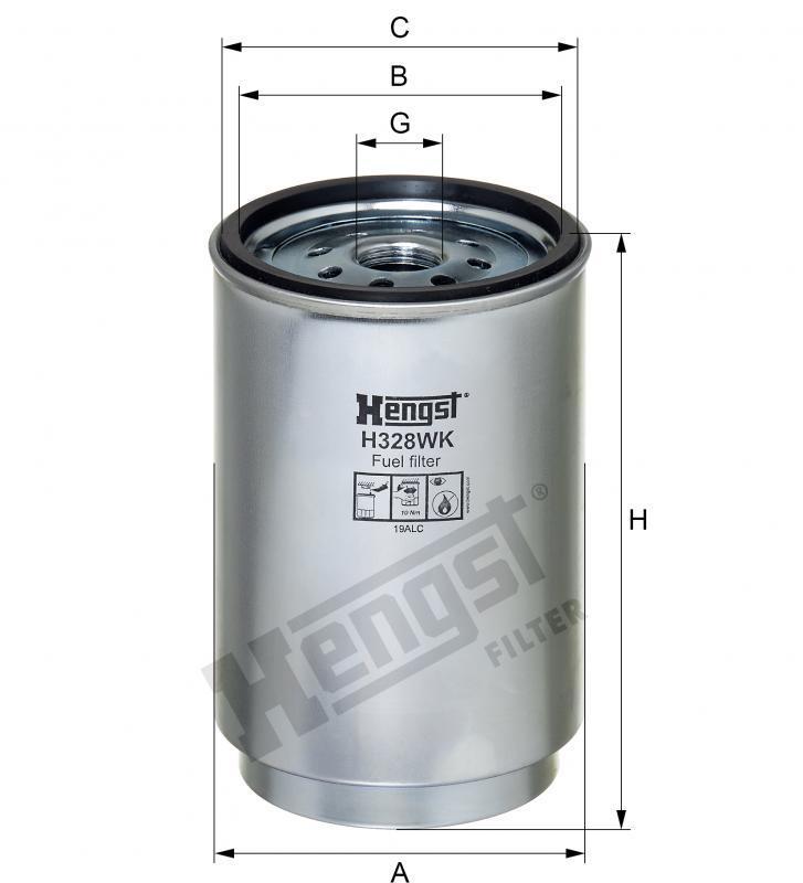 Паливний фільтр Hengst H328WK