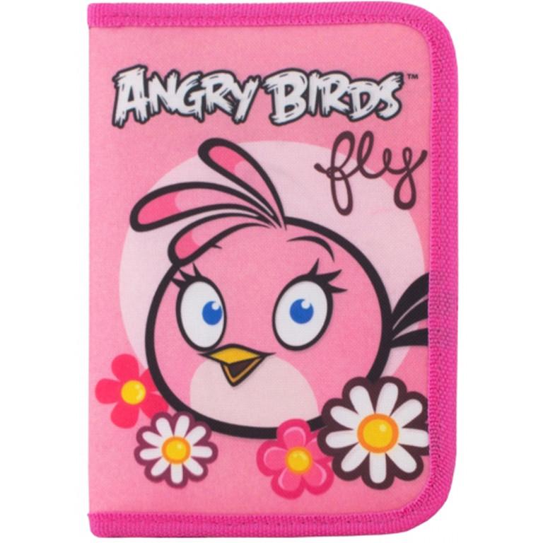 "Пенал CF17 AB03377 розов 19,5х13х3,5см,""Angry Birds"", пластик, 1 отд. на блиск.,1 с отдворотом"