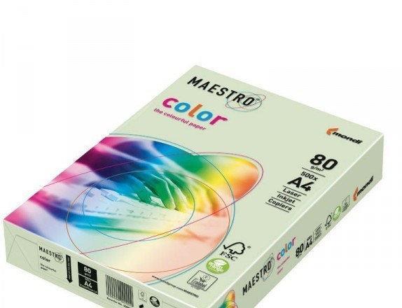 Папір A4 Maestro color світло-зелена