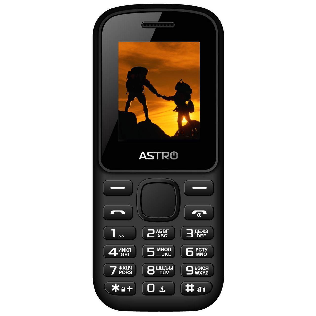 Кнопочный мобильный телефон на 2 сим карты с фонариком Astro A171 черный