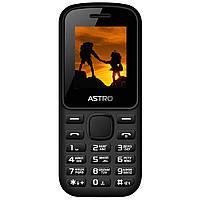 Кнопочный мобильный телефон на 2 сим карты с фонариком Astro A171 черный, фото 1