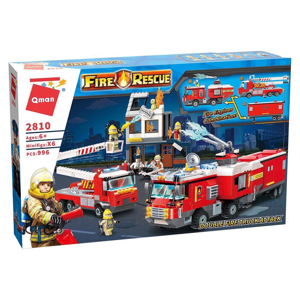 Конструктор пожарная часть Qman 2800