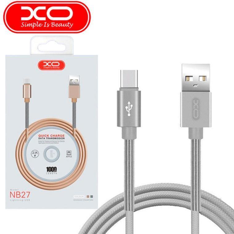 USB кабель XO NB27 Type-C 1m (серый)