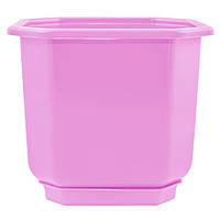Горшок цветочный Дама 8х8 см розовый 0,28 л , Украина