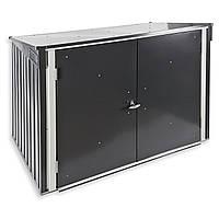 Бокс для мусорных контейнеров серый с белым, 154x96x131Н см, Garbage Box DURAMAX
