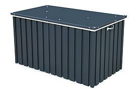 Ящик металлический внешний серый с белым, 134x73x73Н см, DURAMAX Cushion box 1.3