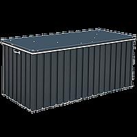 Ящик металлический внешний серый с белым 1.7,  174x73x73Н см, DURAMAX Cushion box 1.7