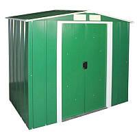 Сарай металлический ECO зеленый с белым, 202x122x181см, DURAMAX ECO shed 6x4