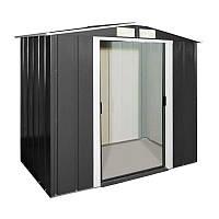 Сарай металлический ECO серый с белым, 202x122x181 см, DURAMAX ECO shed 6x4