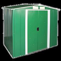 Сарай металлический ECO зеленый с белым, 202x182x181см, DURAMAX ECO shed 6x6