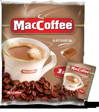 Кофейный напиток MacCoffee Карамель 3в1 (20х18 г)