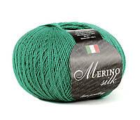 Пряжа Сеам Merino Silk 50 гр Зеленый