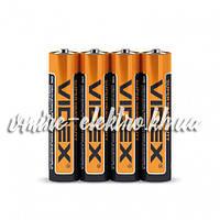 Батарейка солевая AAA R03P Videx шринк 4 шт