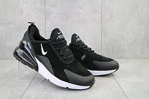 Кроссовки Nike Air Max 270 (5121 -5) (весна/осень, мужские, искусственная замша, черный-белый)