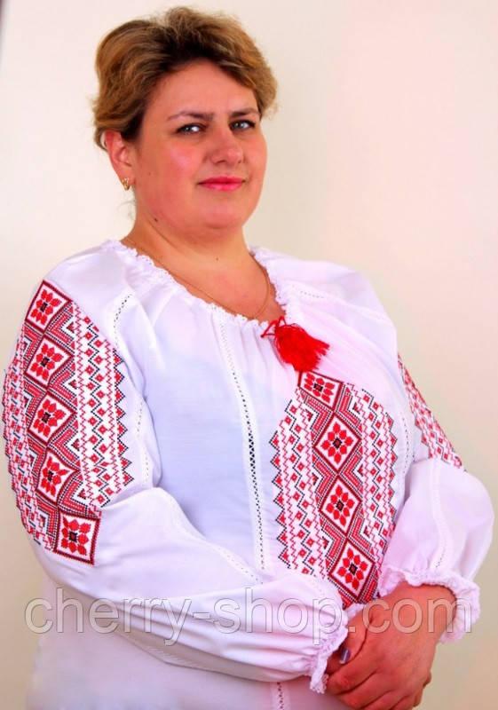 Блуза вышиванка батального размера