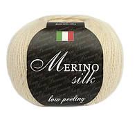 Пряжа Сеам Merino Silk 50 гр Молочный