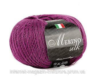 Пряжа Сеам Merino Silk 50 гр Фуксия