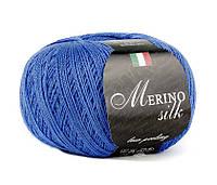 Пряжа Сеам Merino Silk 50 гр Синий