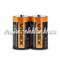 Батарейка солевая C R14P Videx шринк 2 шт