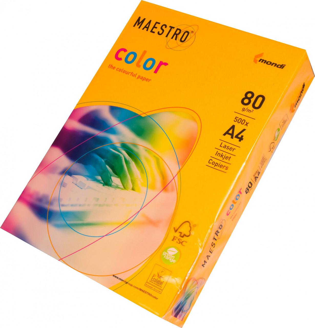 Бумага A4 Maestro color Neon Orange
