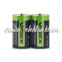Батарейка щелочная D LR20P Videx шринк 2 шт