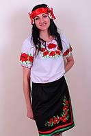 Женская вышиванка с коротким рукавом