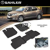 Резиновые коврики Dacia Logan 2013- 4D (Sahler) - Ковры в салон Дача Логан