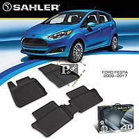 Резиновые коврики Ford Fiesta 2009-2017 4D (Sahler) - Ковры в салон Форд Фиеста