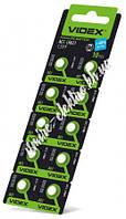 Батарейка Videx AG1 (LR621, LR60, 164, GP64A, 364, SR621W) 1,5v блистер 10 шт