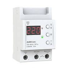 Реле напряжения 25А с термозащитой ZUBR Dt