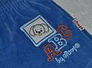 Штаны велюровые АВС голубые для мальчика (Nicol, Польша), фото 2