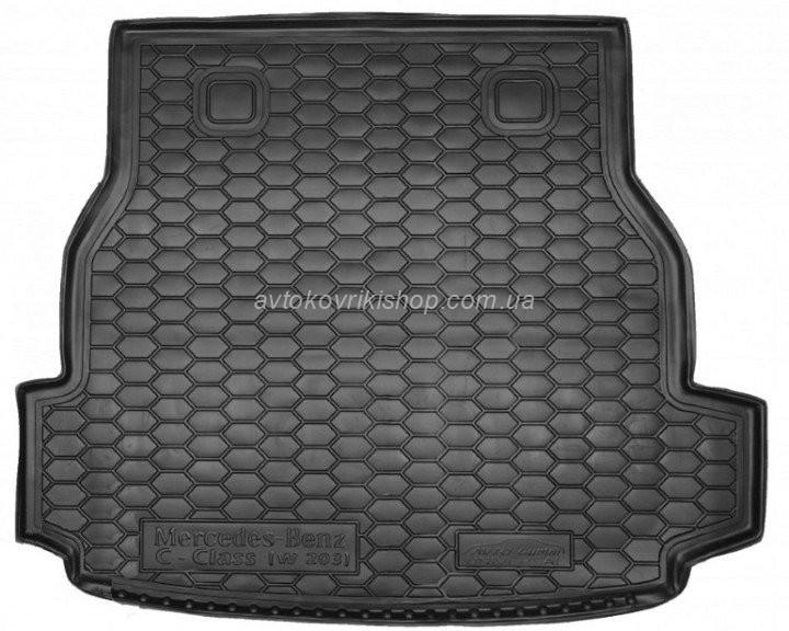 Резиновый коврик багажника Mercedes-Benz W203 C 2000- (универсал) Avto-Gumm