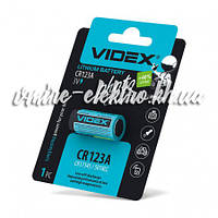Батарейка CR123A (123, DL123A) 3v Videx lithium 1 шт