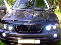 Мухобойка на капот BMW X5 E53 2000 Дефлектор капота на БМВ Х5 Е53 2000 мухобойка БМВ Икс5 Е53 2000