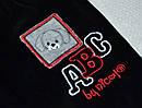 Детские велюровые штаны АВС черные для мальчика р. 68-86 см (Nicol, Польша), фото 2