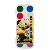 Детские крааски акварельные Kite 12 цветов Transformers