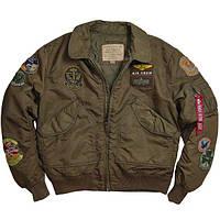 Оригинальная куртка пилот Alpha Industries CWU Pilot X Jacket MJC38014C1 (Sage/Brown), фото 1