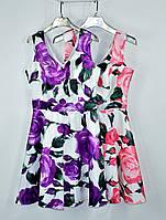 Яркое нарядное платье в очень яркий цветок
