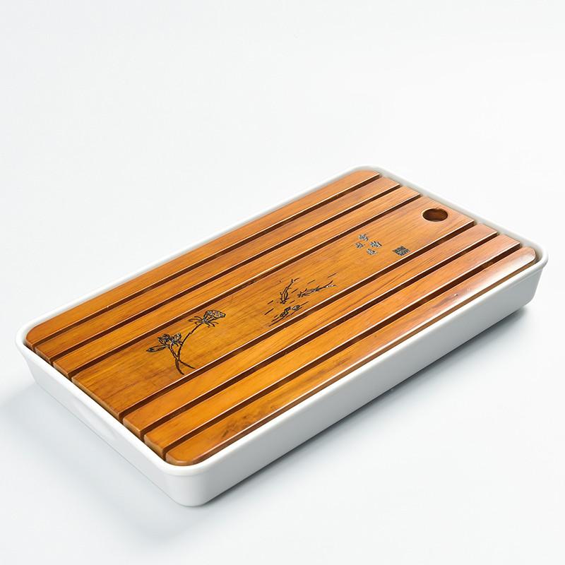 Чабань деревянная, белая (32,5*19*4)