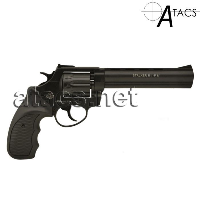 """Револьвер под патрон Флобера Stalker 6"""" , черная рукоять"""