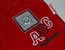 Детские велюровые штаны АВС красные для мальчика р. 68-86 см (Nicol, Польша), фото 2