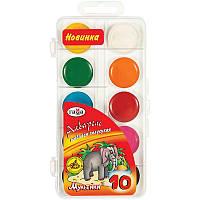 Детские акварельные краски Гамма мультики 10 цветов