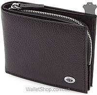 Кожаный кошелек кожаный с монетницей с ячейками под карты  ST Leather