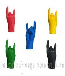Свеча в виде руки Коза (цвет на выбор)