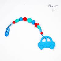 Грызунок из пищевого силикона BABY MILK TEETH Blue Car